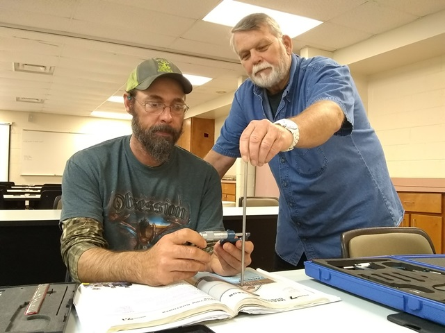 Photo of Student Stanley Thornton and Instructor Mike Cobb