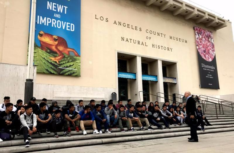 Ed Reyes_ of the City of Los Angeles_ helped launch a project-based learning activity with ITEP students from Manual Arts High School.
