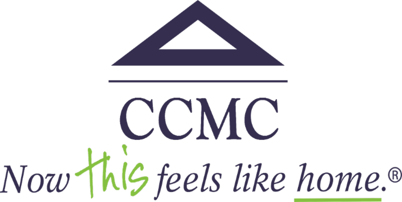 """CCMC logo with tagline """"Now this feels like home"""""""