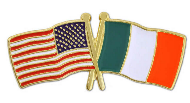 US-Irish Flag pin
