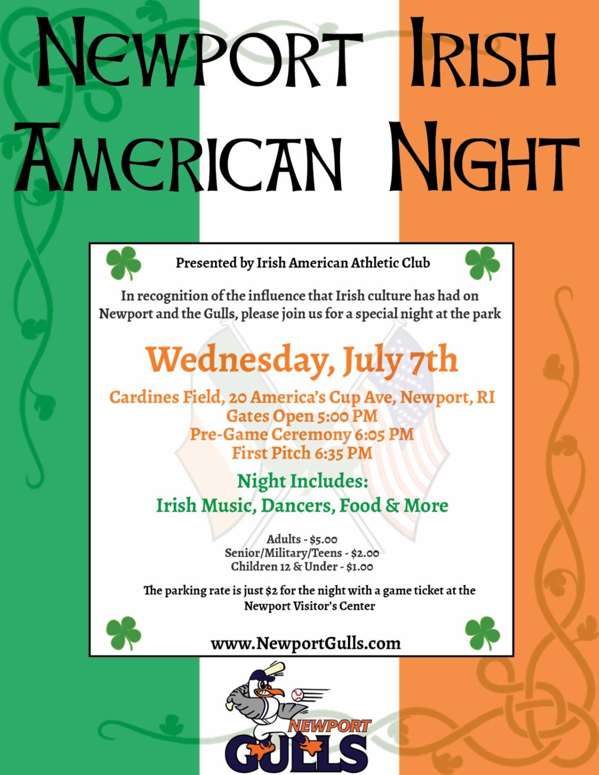 Irish Night @ Cardines July 2021