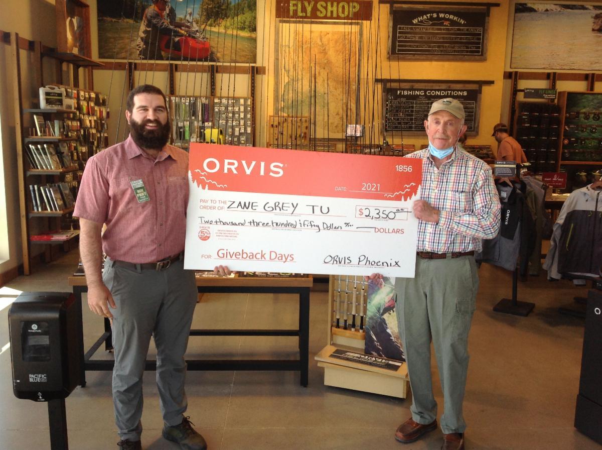 Orvis GiveBack Check May 2021