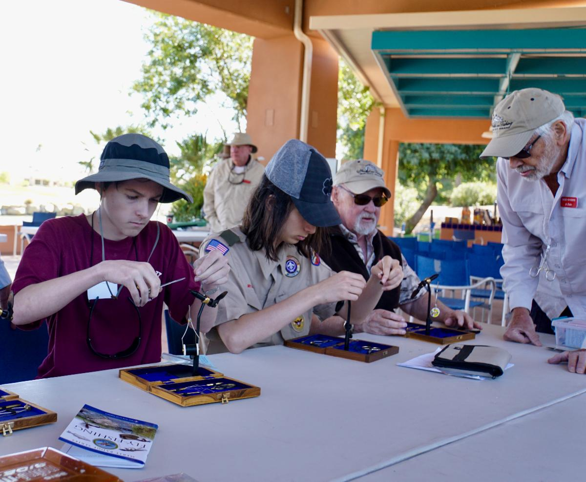 Scouts fly tying