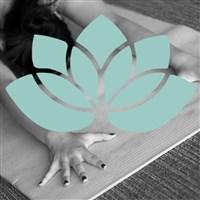 yoga and lotus flower image