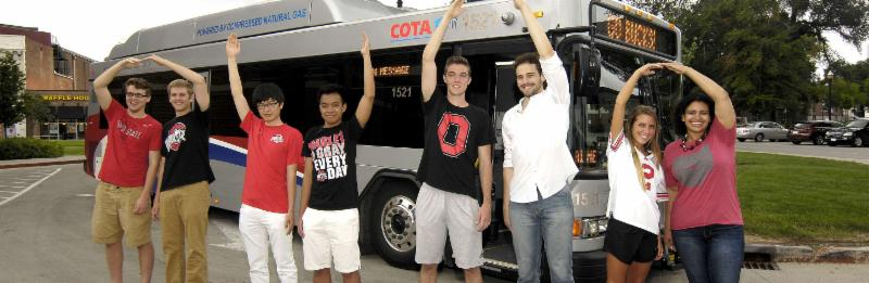COTA Bus with students