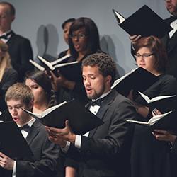 Chorus Members Singing