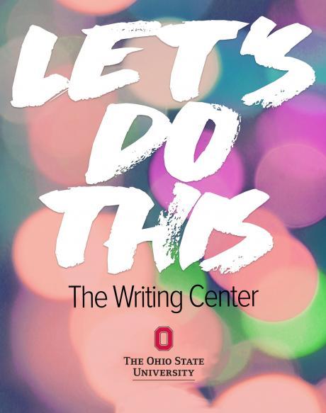 Writing Center postcard