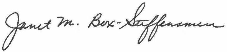 Janet M. Box-Steffensmeier Signature
