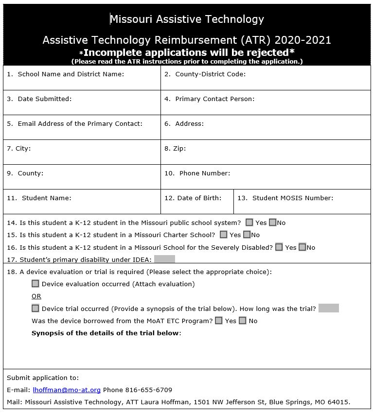 Image of the ATR Application