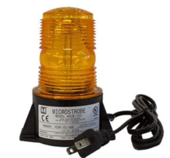 Small AC powered strobe light