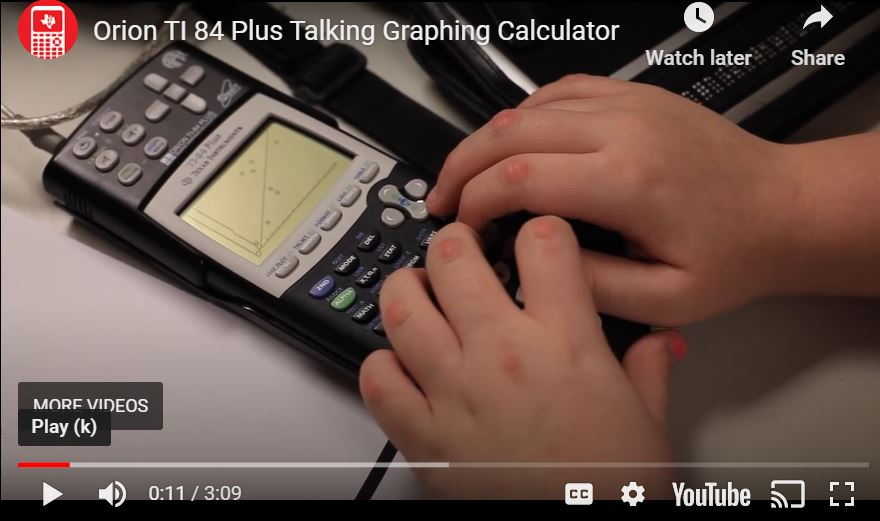 Talking graphical calculator