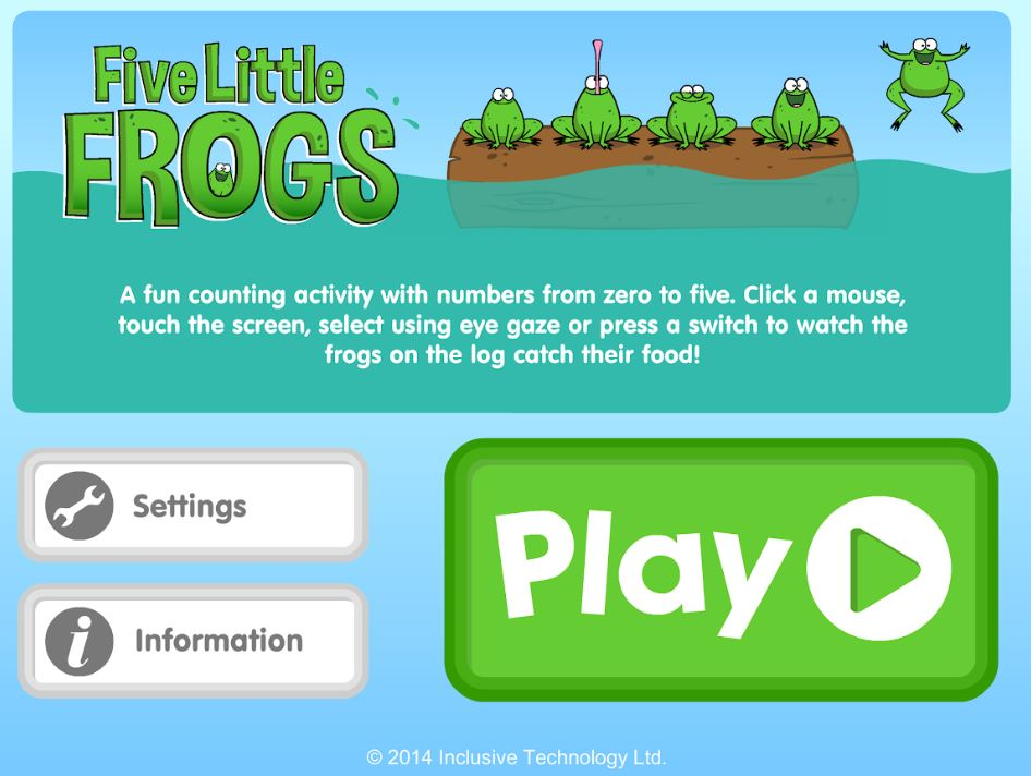 Five Little Frogs opening icon