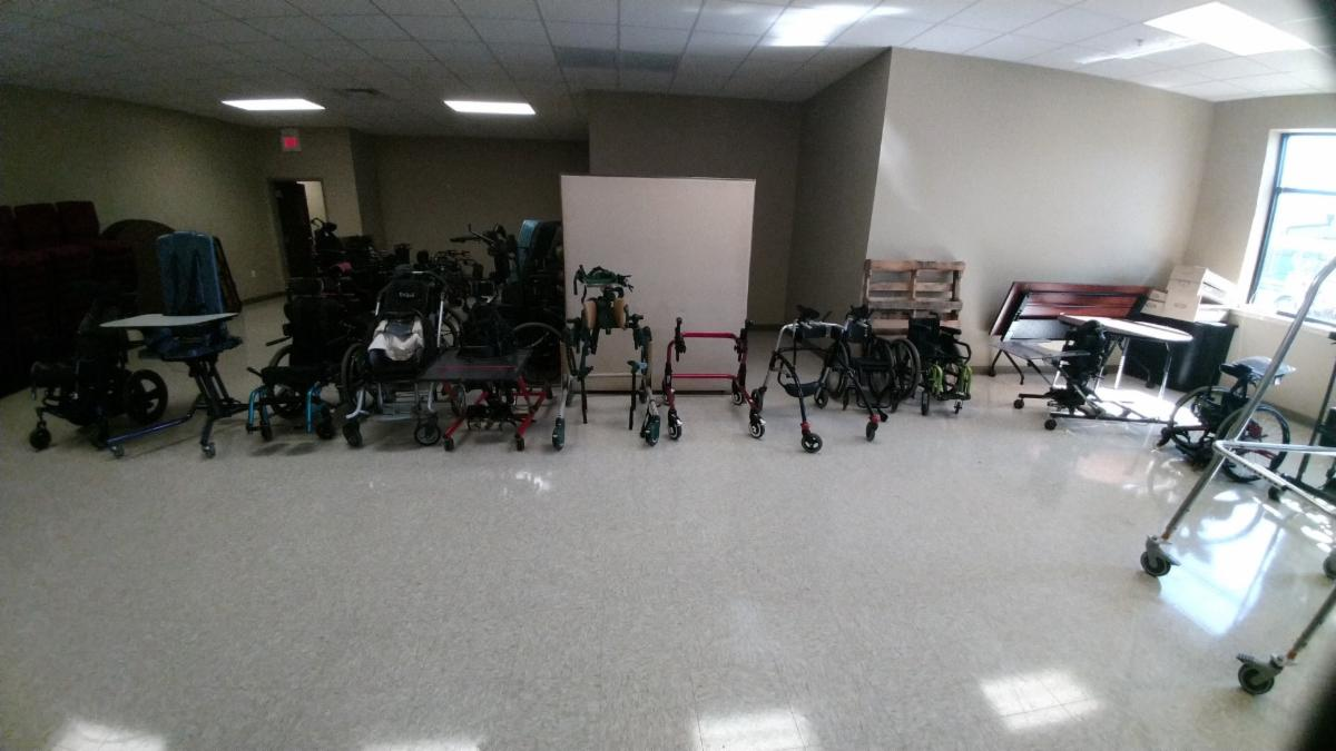 durable medical equipment including wheelchairs standers and walkers
