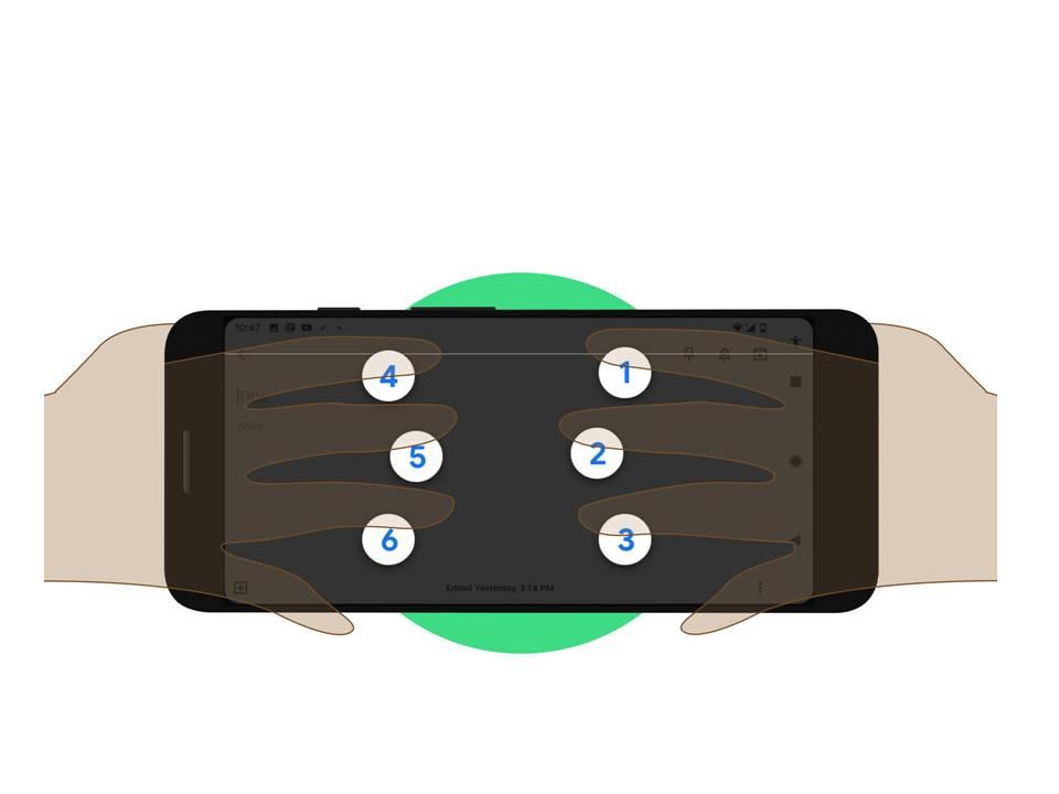 Google Talk Back on a smart Phone