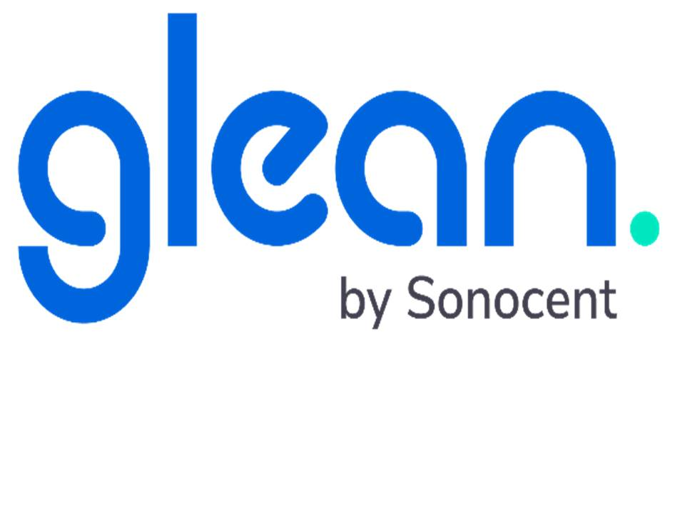 The Glean by Sonocent logo and a link to their website