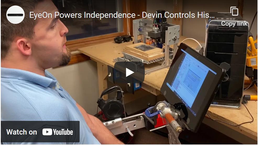 Mechanical Engineer using the Eye on device for custom fabrication