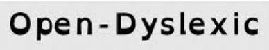 Open Dyslexic Font Icon