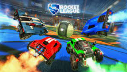 rocket league vehicles and the game logo