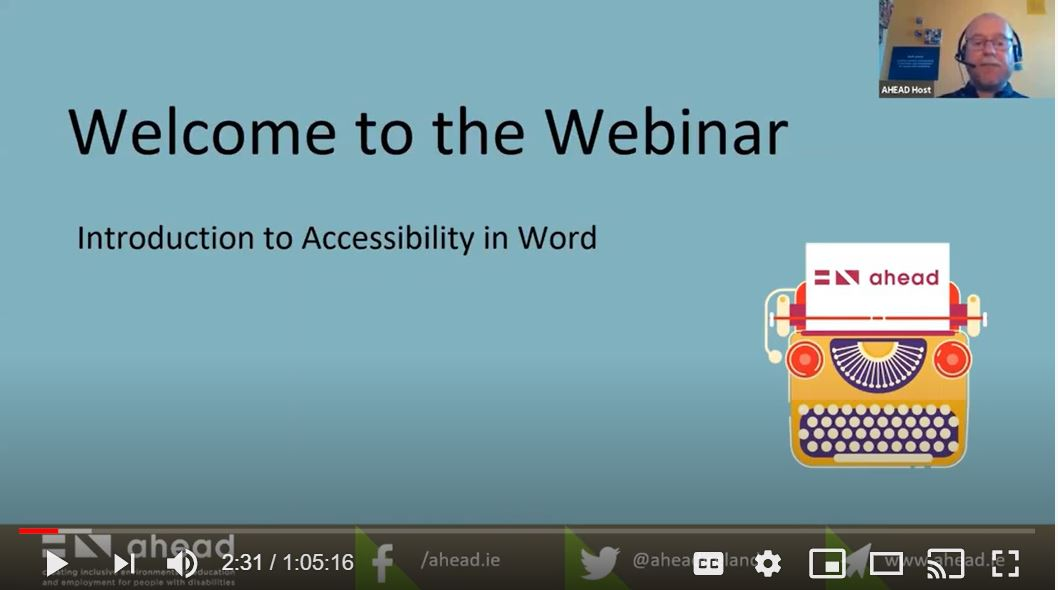 Introduction to Accessibility in Word Webinar