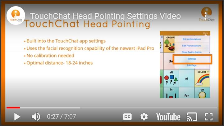 Touch Chat Head Tracking video