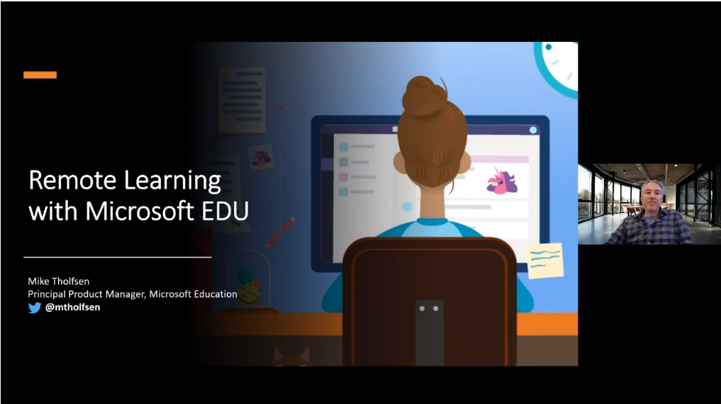 Remote Learning with Microsoft video