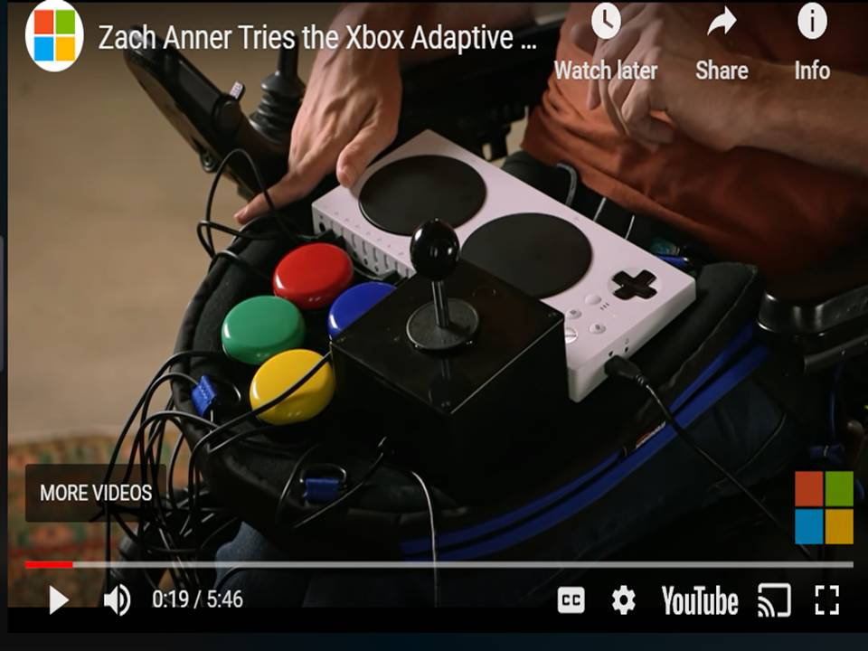 Image of the video link to Zach Anner Tries the Xbox Adaptive Gaming Controller