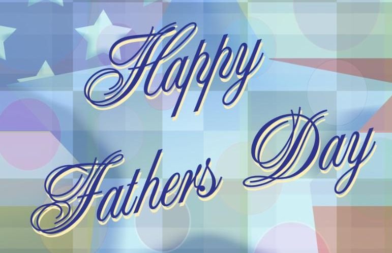 Father s day greeting with american theme background.