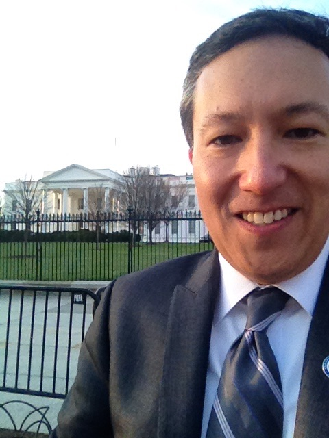 Dr. Deocampo attending the 2016 White House Water Summit.
