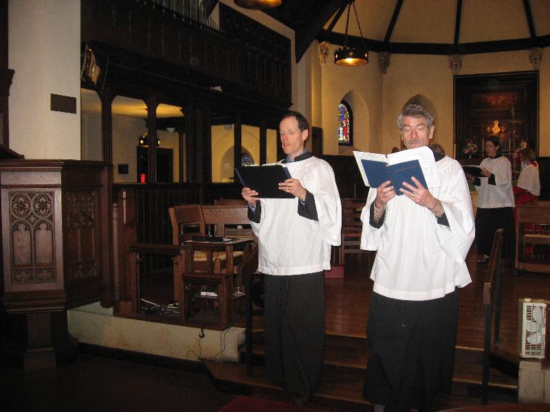 Choir recessing