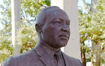 Statue bust of Martin Luther King Jr.