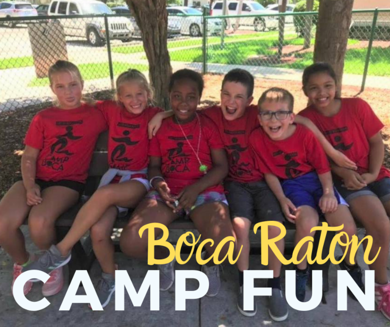 Boca Raton Camp Fun. Campers smiling together
