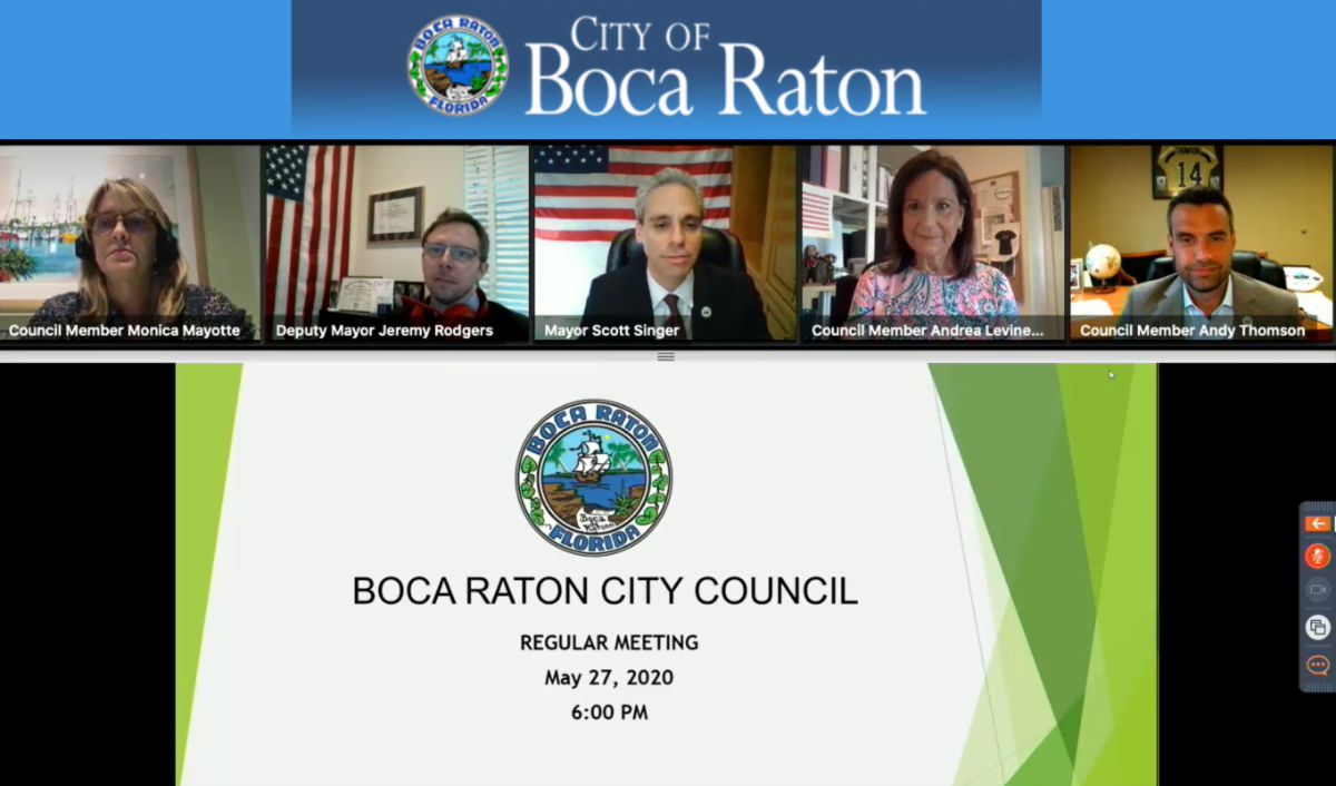 City of Boca Raton virtual City Council meeting