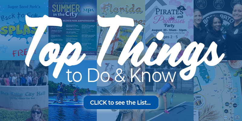 Top things to do and know. click to see the list. August 2019.