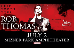 Rob Thomas Chip Tooth Tour, July 2, Mizner Park Amphitheater. Special guest Abby Anderson