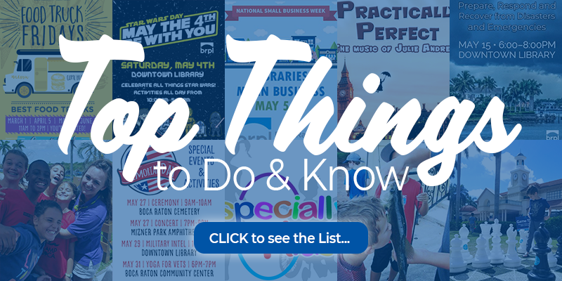 Top things to do and know may 2019. Click to see the list.