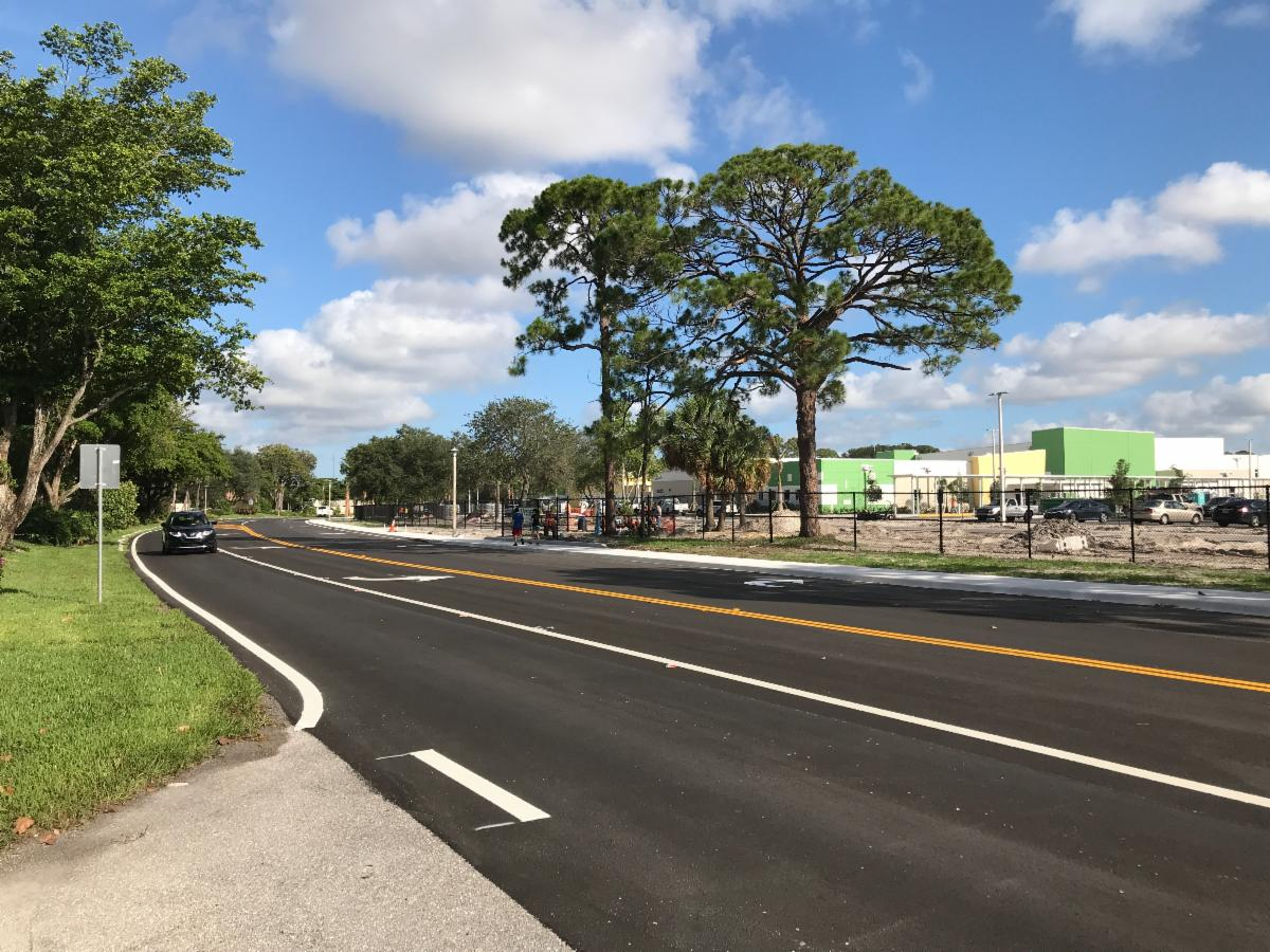 Newly completed repaving near Verde Elementary