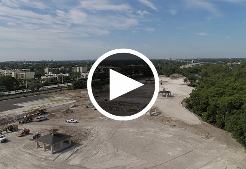 Video play button for Hillsboro el Rio Park progress video