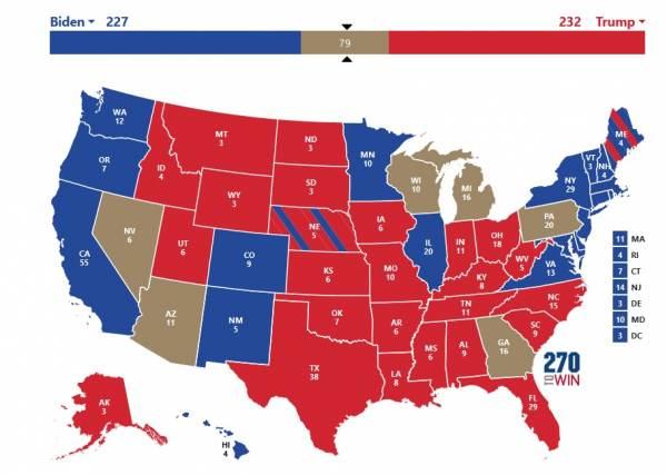 Trump Winning Electoral Map
