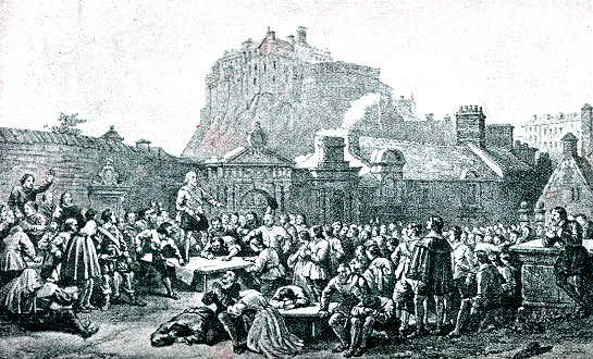 Signing of the Covenant, Greyfriars Kirkyard, Edinburgh, 28th February 1638