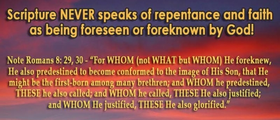 Foreknowledge, Whom He Foreknew, Not What, Calvinism Is True