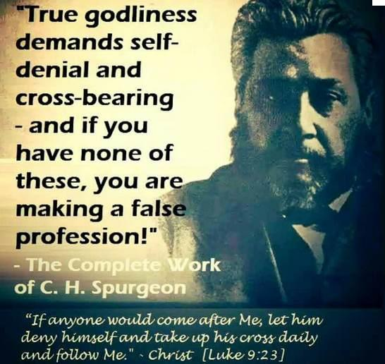 Charles Spurgeon Quote On Self Denial