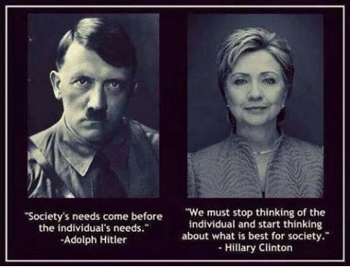 Hitler Hillary Quotes Match Society Individual
