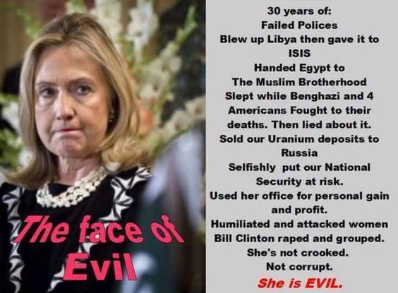 Hillary Clinton Is Evil & Satanic