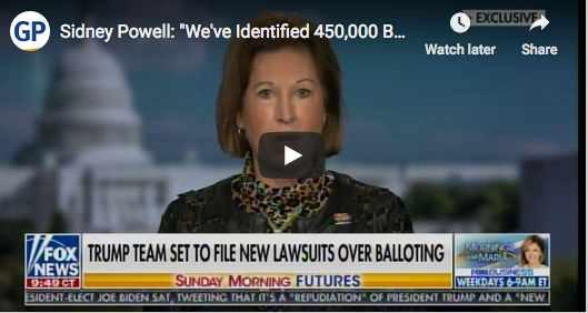 Attorney Powell States Software Democratic operatives used illegally changed massive numbers of votes
