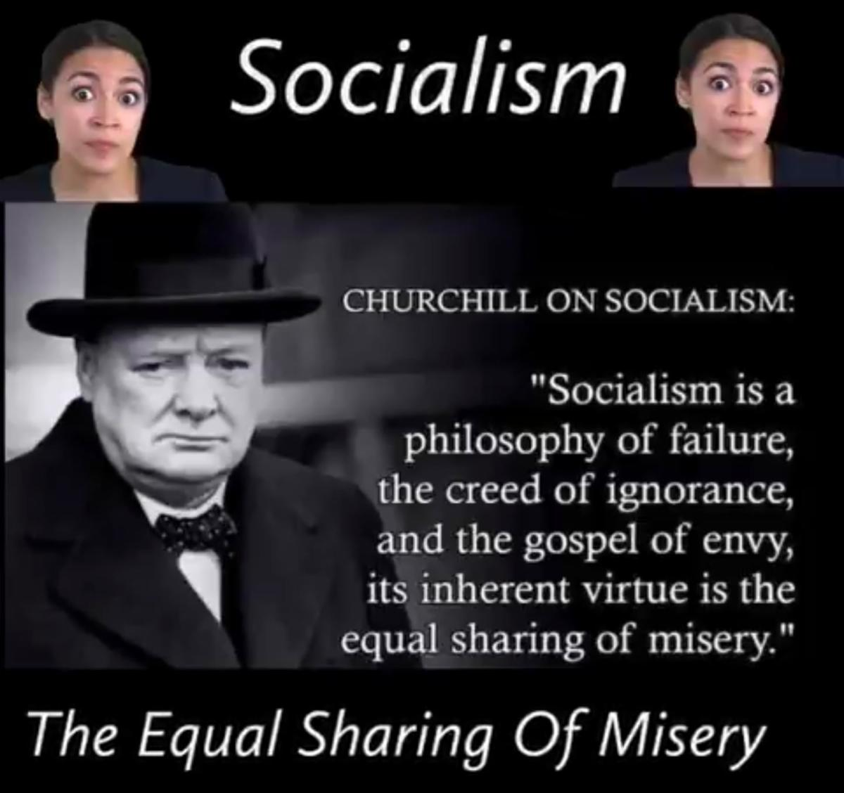 Churchill-Socialism-AOC-Democrats-Failure