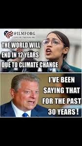 AOC Gore Climate Alarmist