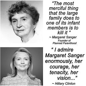 Hillary Clinton Margaret Sanger Planned Parenthood Abortion