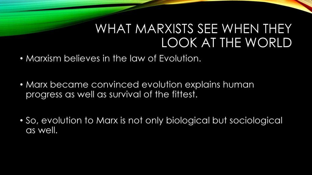 Marxism Evolution