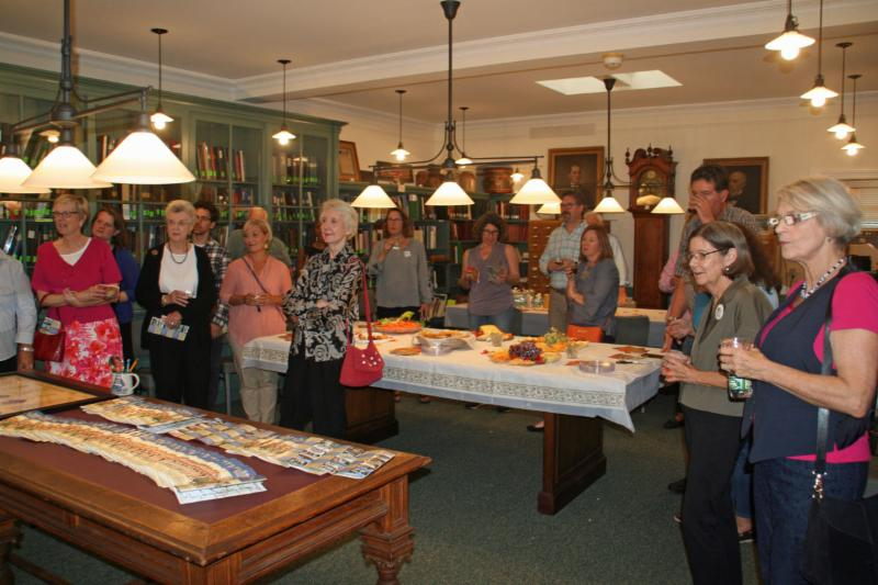 Distinguished guests gathered at a reception to celebrate the launch of the Walking History Tour. - Photo by Lillian Shupe