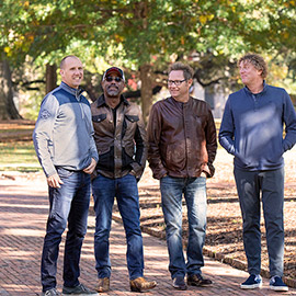 Members of the popular '90s band Hootie & the Blowfish on the historic Horseshoe.